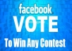 give you 110 real facebook votes, website vote or IP votes within few hours