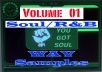 give you volume 1, SOUL samples from a 28 dvd set, royalty free, hq wav files