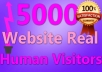 provide 5000 VERIFIED Website Real Human Visitors