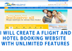 Create a Flight and Hotel Booking Website for You