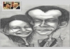 hand draw funny caricatures