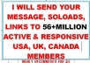 Send Your Email,Solo Ads,Links To 56 Million Responsive USA,Canada,Uk Members
