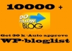 give you list of 10K dofollow blogs