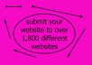 submit your website to over 1,800 different websites