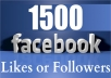add 1,500 verified facebook likes to increase your SEO