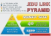 build EDU link pyramid, high pr edu backlinks