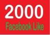 give 2000++ permanent facebook like photo or comment or posts only