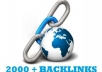 submit Your Site Or Blog To Over 2000 Plus Backlink Directories