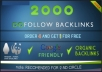 build fast 2000 DoFollow backlinks
