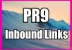 manually create 60 PR9 Inbound links from established websites