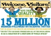 promote your link 15Million Users on top social networking site Facebook twitter