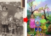 work on your damaged black & white photo and convert to better one