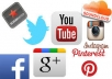 Add 2,000 Twitter Followers Or 1,000 Instagram followers/likes Or 3500 Facebook likes Or 2,000 Youtube views