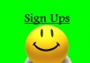 provide you with 20 free sign ups