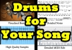 write drums for your song
