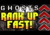 rank you up on Call of Duty: Ghosts on PS3/PS4