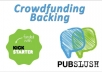 back your Kickstarter or Pubslush campaign
