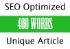 write an ARTICLE for your blog in about 500 words
