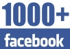 give you 1000 Real Facebook Likes on your Fanpage