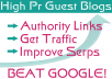 Provide you with a list of 25 Verified High Pr-Niche-Authority sites who accept free posts