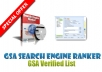Send you gsa search engine link list of over 150,000 + verified urls