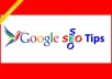 provive SEO tips on your website