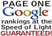give you the top secret trap door method for instant Google Page ONE rankings