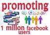 promote WEBSITES,links,videos among millions of real people
