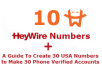 Give 10 HeyWire Numbers