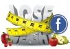 place your ad on my weight loss facebook fan page