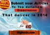 Submit 1 Article EXCLUSIVELY to 10 Top Directories