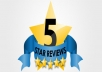add 100+ 5 STAR RATING and REVIEWS to your Fanpage