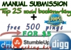 maually submit your website page to 22 high paged ranked sites plus 2500 pings