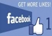 give you, Real & permanent 600++ high quality Facebook Likes