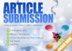 provide 20 PR Articles Submission services