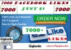 promote Facebook fan page and get you 7000 Real likes