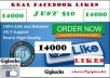 promote Facebook fan page and get you 14000 Real likes