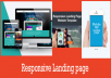 design awesome PROFESSIONAL landing page or Squeeze Page