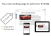 create a custom landing page for you to sell from