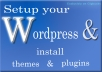 install wordpress, and also themes and plugins