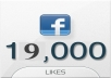give 19,000 REAL Facebook Fanpgae like