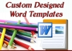 create a custom Microsoft Word template