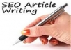 write a 500 word SEO optimized unique article on any topic you desire in 24hrs or less