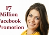 share your link to 17 Million Facebook Fans and 100K Twitter Followers