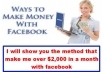 show You The Method To Bank Over 2,000 Dollars Every Month With Facebook