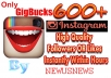get you FAST 600 High Quality Instagram Likes