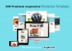 Provide over 500 Premium Wordpress Responsive Themes