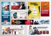 create a professional Banner OR Header in 2 sizes