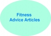 write a 400 word fitness advice article