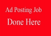 Post Ads on Craigslist and Backpage!